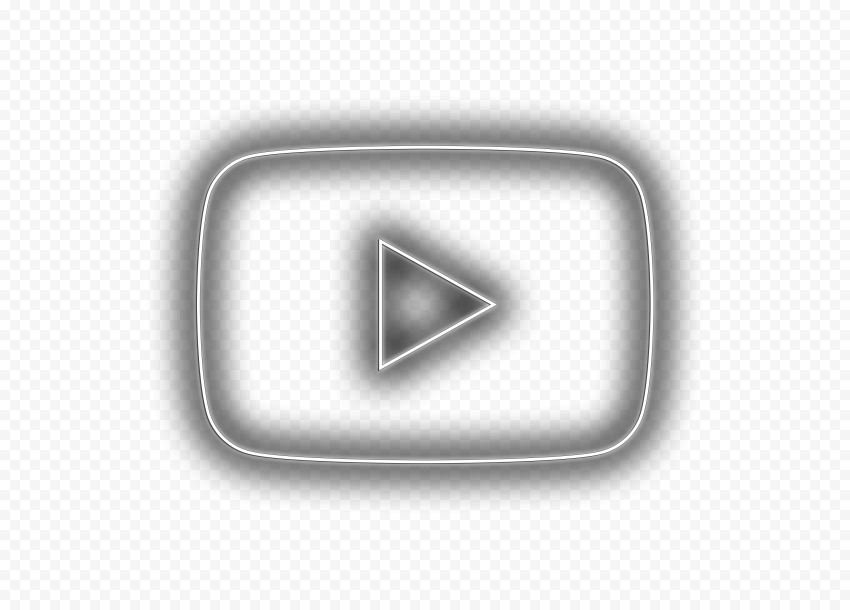 HD Aesthetic Youtube Black & White Neon Symbol Logo Icon PNG