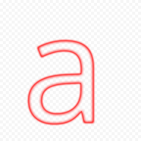 HD A Neon Letter Alphabet Outline Red Color PNG