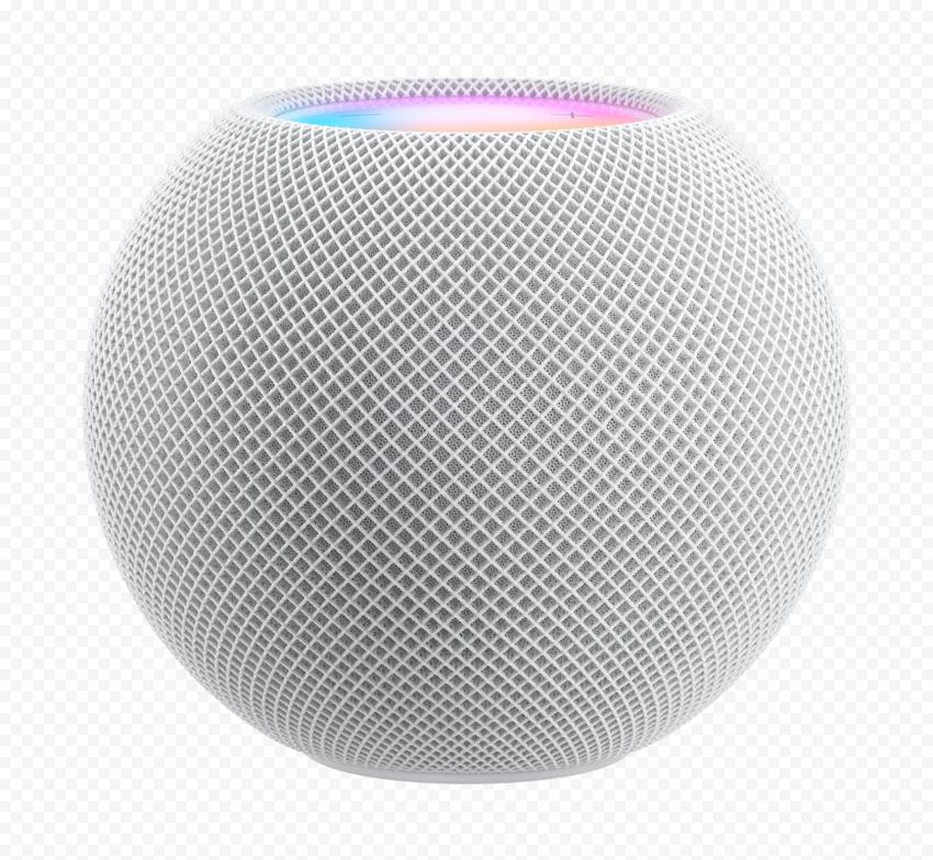 HD Apple White Homepod Mini Speaker PNG