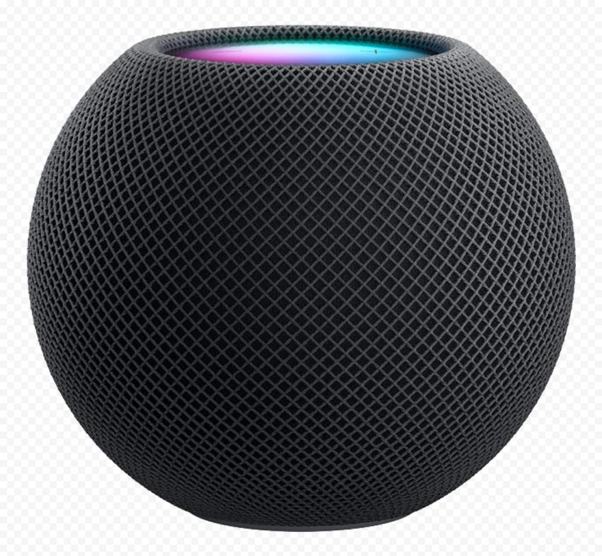HD Apple Black Homepod Mini Speaker PNG