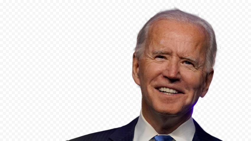 HD Joe Biden Happy Face President Of United States PNG