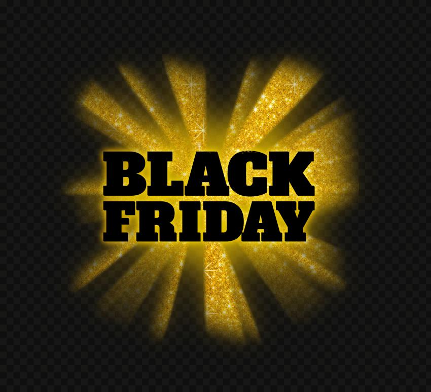 HD Beautiful Black Friday Gold Glitter Logo PNG