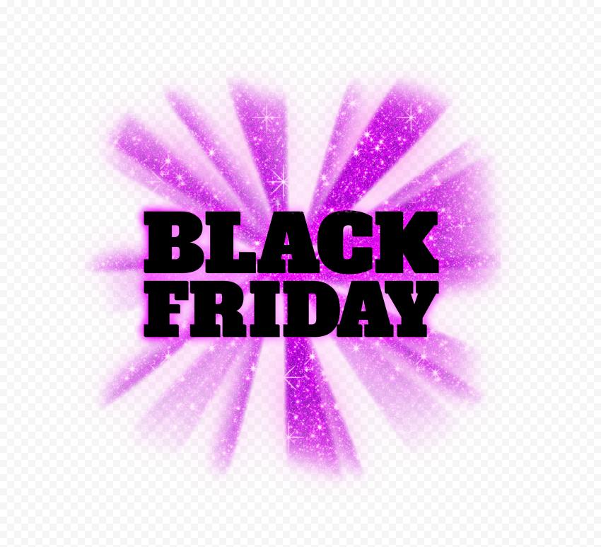 HD Beautiful Black Friday Purple Glitter Logo PNG
