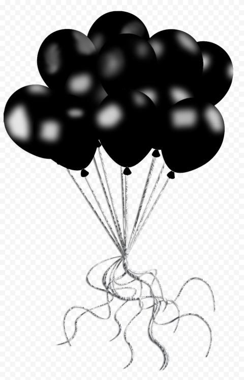 HD Black Friday Balloons Decorations PNG