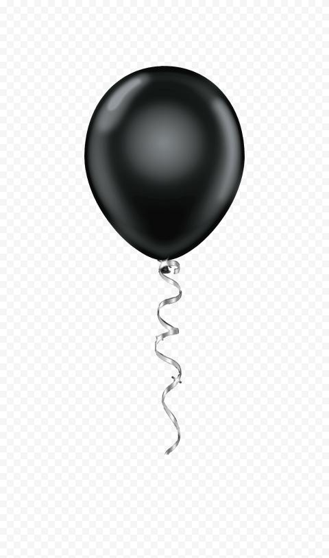 HD Beautiful Black Friday Balloon Decoration PNG