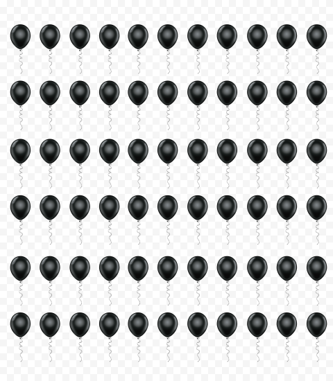 HD Black Balloons Pattern Background PNG