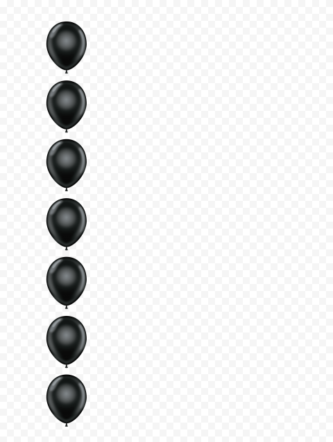 HD Black Balloons Vertical Border PNG