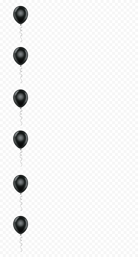 HD Black Balloons Border Vertical PNG