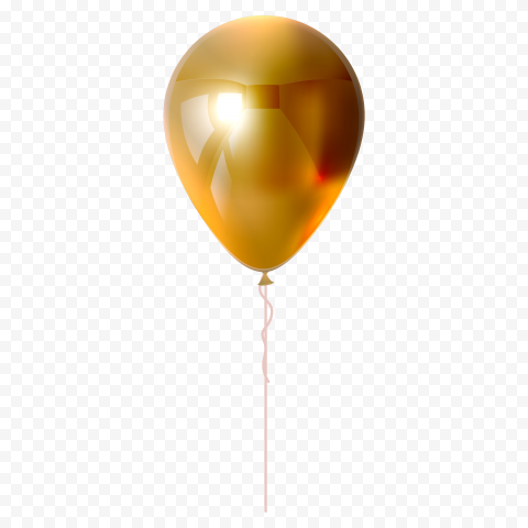 HD Golden Gold Balloon Fly PNG