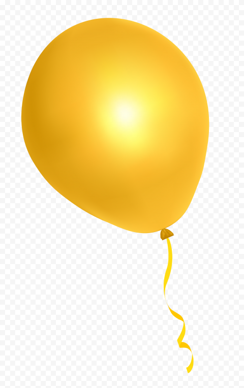 HD Yellow Golden Gold Balloon Fly Clipart PNG