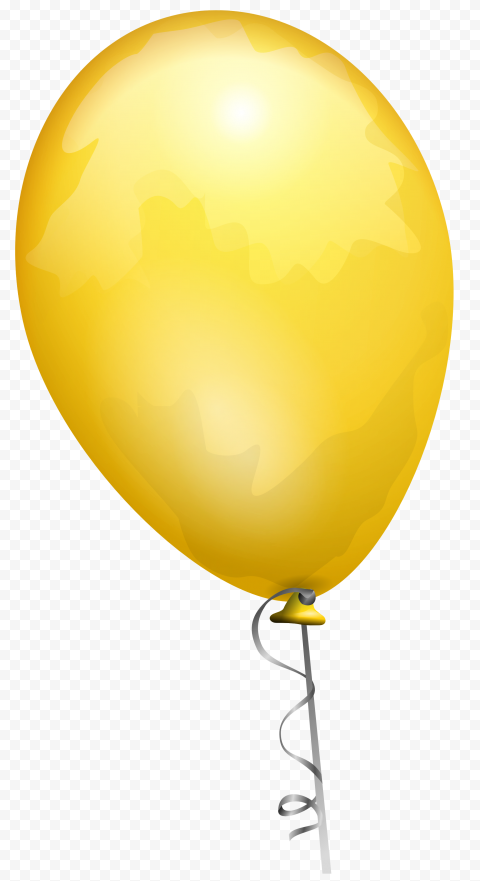HD Yellow Gold Balloon Fly Clipart PNG