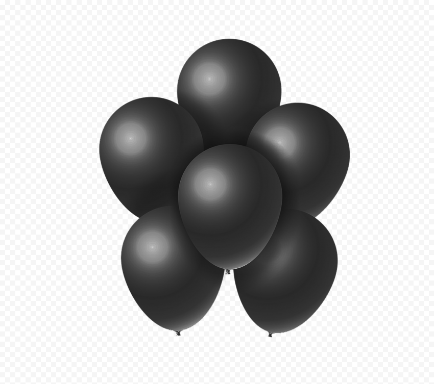 HD Group Of Black Balloons PNG