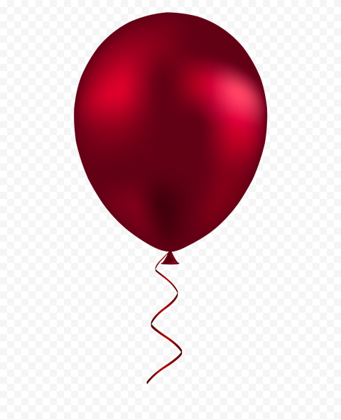 HD Dark Red Vector Decoration Balloon PNG