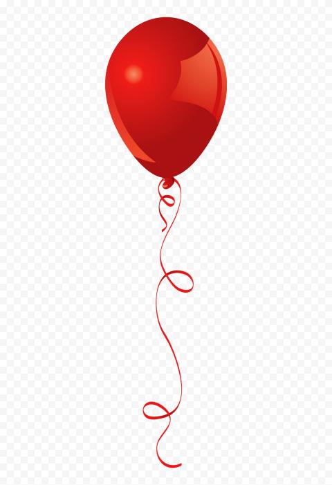 HD Red Balloon Cartoon Clipart PNG