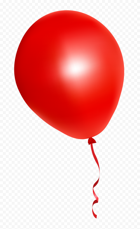 HD Red Balloon Illustration PNG