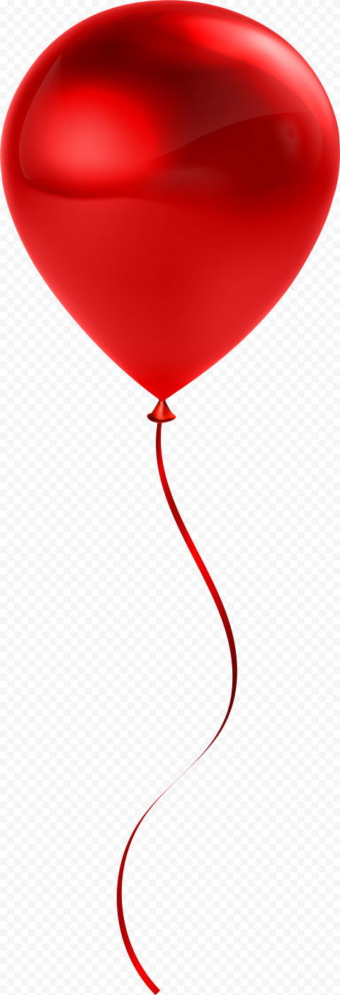 HD Red Balloon Flying Image Illustration PNG
