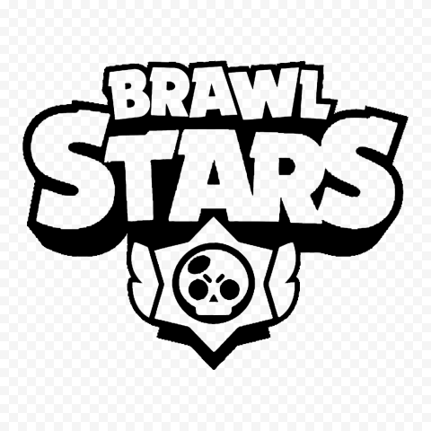 HD Black Outline Brawl Stars Logo PNG