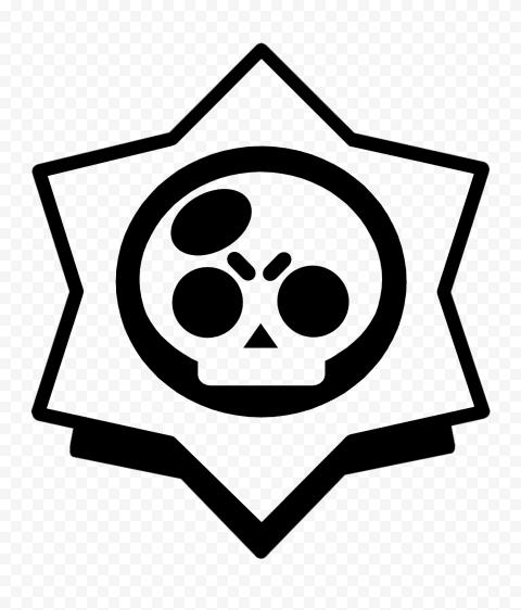 HD Black Outline Brawl Stars Game Logo Icon Symbol PNG