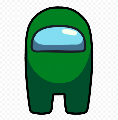 HD Green Among Us Crewmate Front View PNG