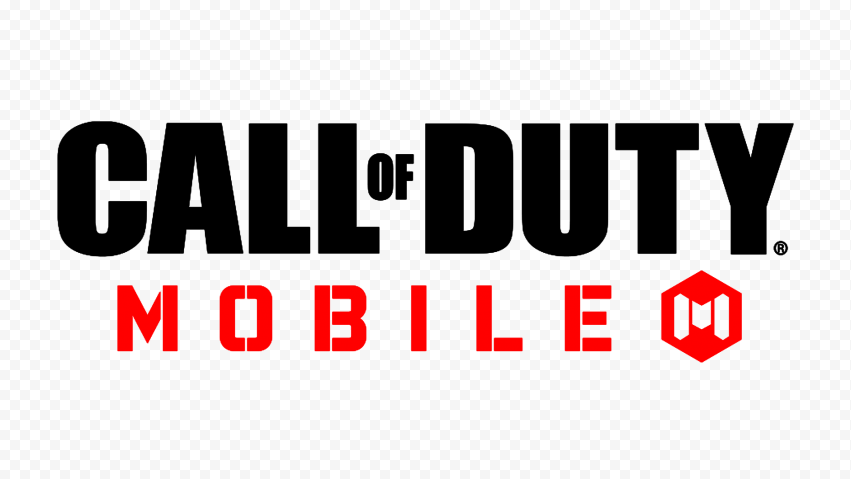 HD Black & Red Call Of Duty Mobile COD Game Logo PNG