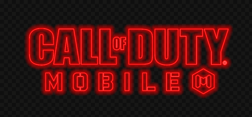 HD Red Neon Call Of Duty Mobile COD Game Logo PNG