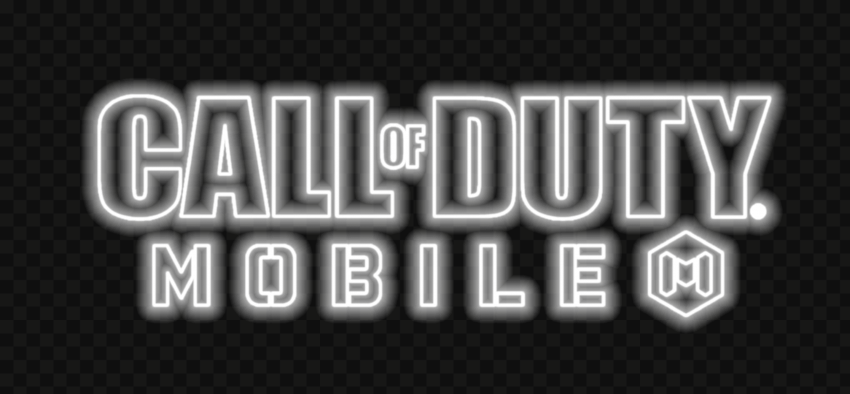 HD White Neon Call Of Duty Mobile COD Game Logo PNG