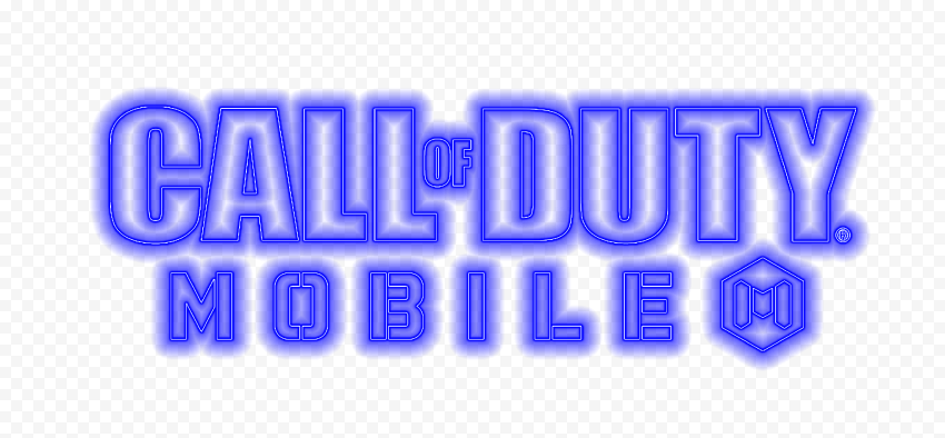 HD Blue Neon Call Of Duty Mobile COD Game Logo PNG