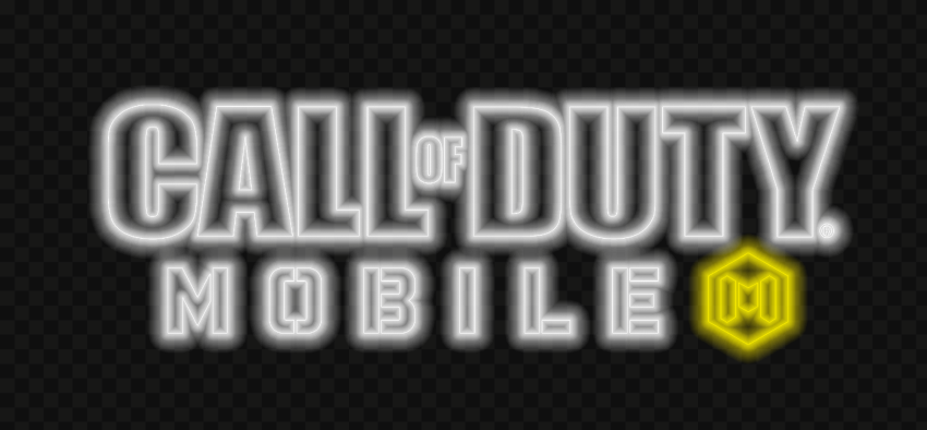 HD Neon Call Of Duty Mobile COD Game Logo PNG