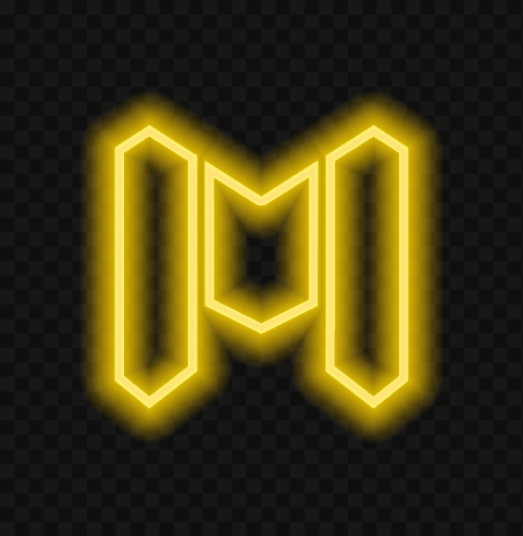 HD Yellow Neon Call Of Duty Mobile COD M Game Logo PNG