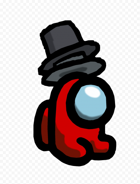 HD Red Among Us Mini Crewmate Baby Double Top Hat PNG