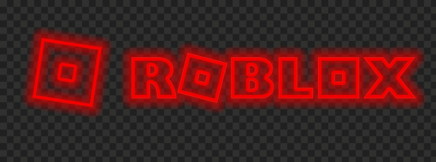 Hd Roblox Red Neon Text Logo With Symbol Sign Icon Png Citypng