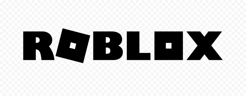HD Roblox Black Text Logo PNG