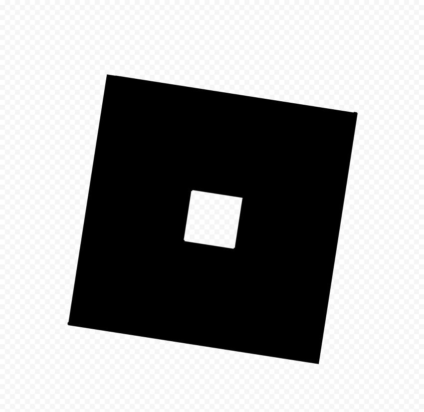 HD Roblox Black Symbol Sign Icon Logo PNG