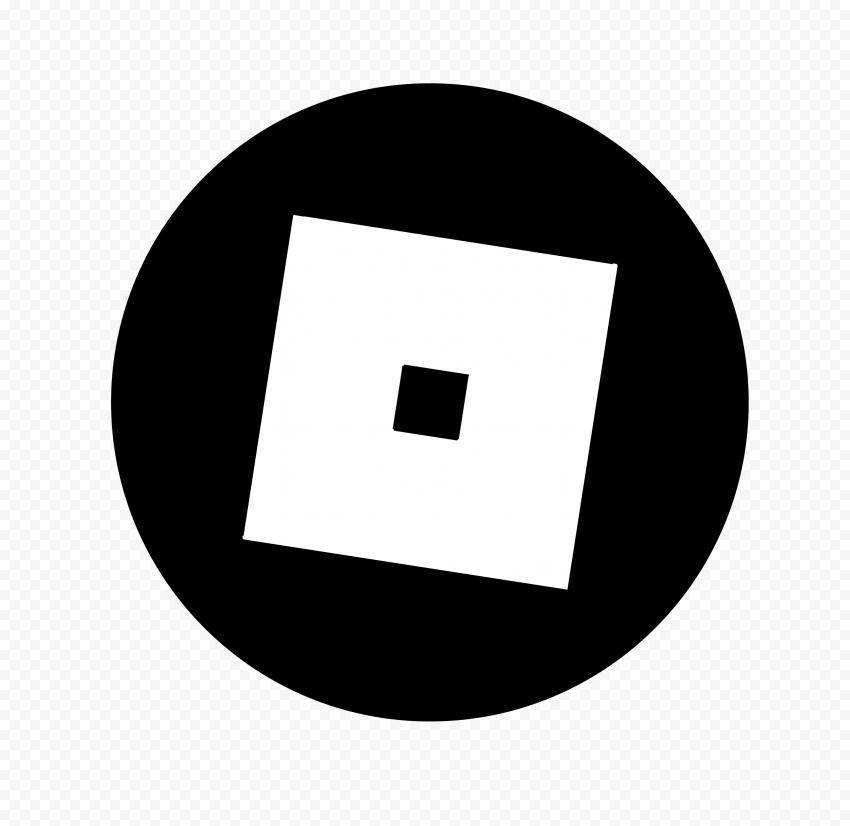 HD Roblox Circular Black & White Symbol Sign Icon Logo PNG