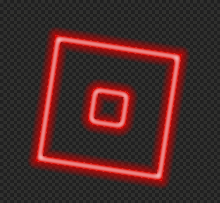 HD Neon Roblox Square Symbol Sign Icon Logo PNG
