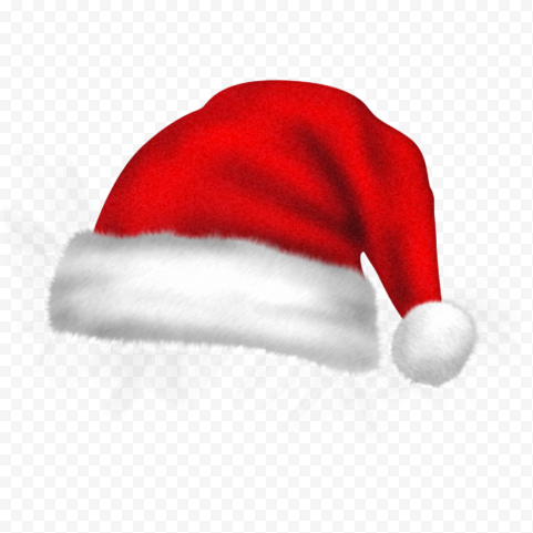 HD Real Christmas Red Santa Claus Hat Bonnet PNG