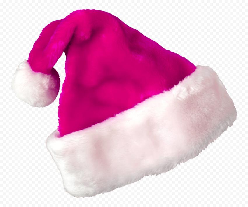 HD Pink Christmas Real Santa Claus Hat PNG