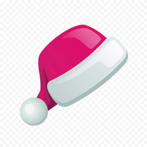 HD Flat Pink Christmas Santa Claus Hat Illustration Icon PNG
