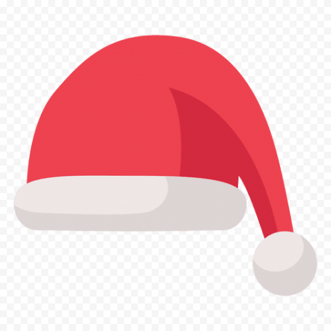 Flat Christmas Santa Claus Hat Illustration Icon PNG