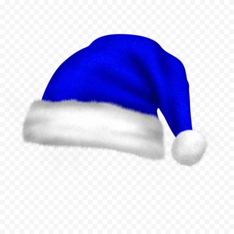 HD Real Cute Blue Christmas Santa Claus Bonnet PNG