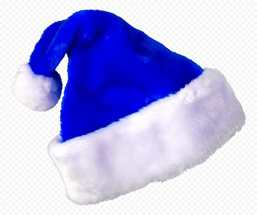 HD Blue Christmas Real Santa Claus Hat PNG