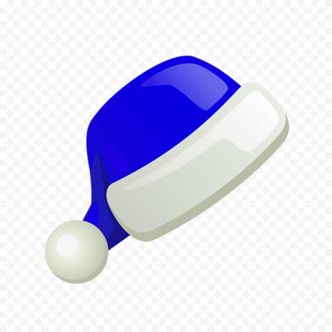 HD Flat Blue Christmas Santa Claus Hat Illustration Icon PNG