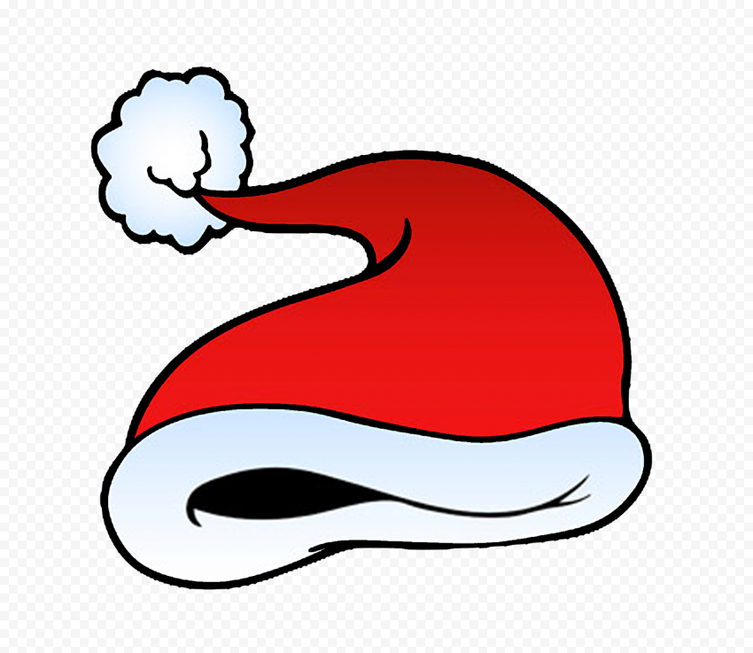 HD Beautiful Red Christmas Santa Hat Cartoon Clipart PNG