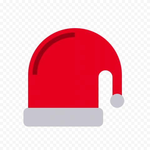Flat Christmas Santa Hat Vector Icon PNG