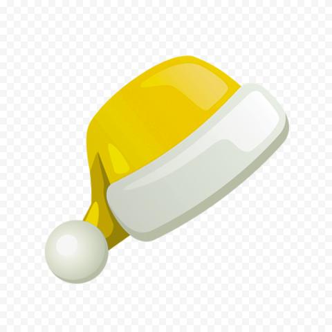 HD Flat Yellow Christmas Santa Claus Hat Illustration Icon PNG