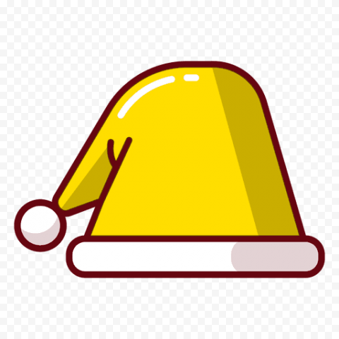 Vector Yellow Christmas Santa Hat Icon PNG