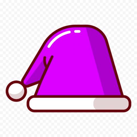 Vector Purple Christmas Santa Hat Icon PNG