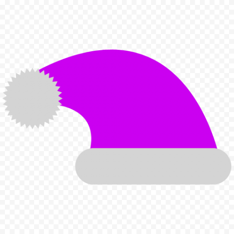 HD Flat Purple Christmas Santa Claus Hat Vector Icon PNG