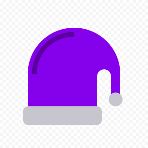 Flat Purple Christmas Santa Hat Vector Icon PNG