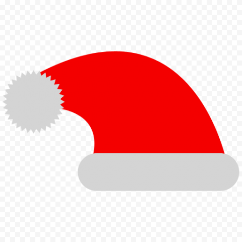 HD Flat Red Christmas Santa Claus Hat Vector Icon PNG